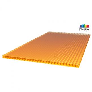 Сотовый поликарбонат SUNNEX оранжевый 2100х6000х4мм