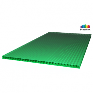 Сотовый поликарбонат ULTRAMARIN зелёный 2100х6000х4мм
