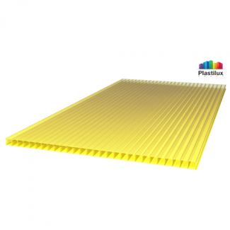 Сотовый поликарбонат ULTRAMARIN жёлтый 2100х12000х4мм