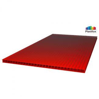 Сотовый поликарбонат ULTRAMARIN красный 2100х12000х6мм