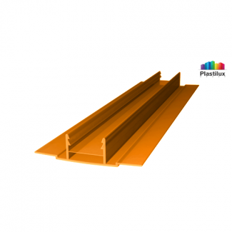 Профиль для поликарбоната ROYALPLAST HCP-D база оранжевый 4-10мм 6000мм
