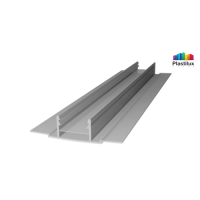 Профиль для поликарбоната ROYALPLAST HCP-D база серебро 4-10мм 6000мм