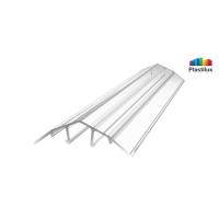 Профиль для поликарбоната ROYALPLAST HCP-U крышка прозрачный 4-10мм 6000мм