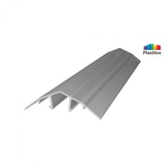 Профиль для поликарбоната ROYALPLAST HCP-U крышка серебро 4-10мм 6000мм