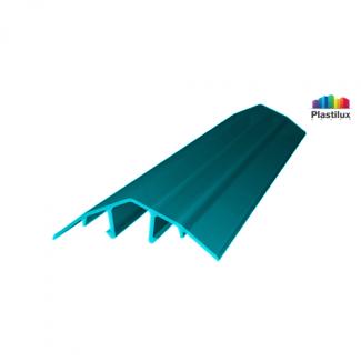 Профиль для поликарбоната ROYALPLAST HCP-U крышка бирюза 4-10мм 6000мм