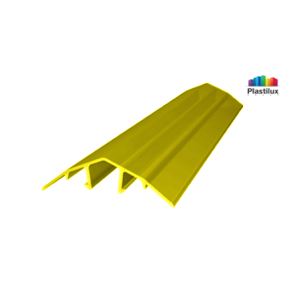 Поликарбонатный профиль ROYALPLAST HCP-U крышка жёлтый 4-10мм 6000мм