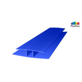 Профиль для поликарбоната ROYALPLAST HP соединительный синий 6мм 6000мм