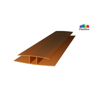 Профиль для поликарбоната ROYALPLAST HP соединительный бронза 8мм 6000мм