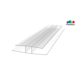 Профиль для поликарбоната ROYALPLAST HP соединительный прозрачный 16мм 6000мм