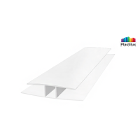 Профиль для поликарбоната ROYALPLAST HP соединительный белый-матовый 10мм 6000мм