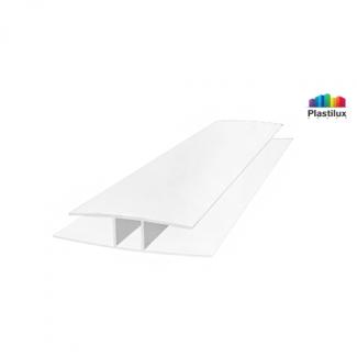 Поликарбонатный профиль ROYALPLAST HP соединительный белый-матовый 8мм 6000мм