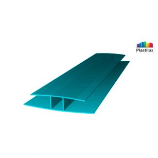 Профиль для поликарбоната ROYALPLAST HP соединительный бирюза 6мм 6000мм