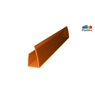 Профиль для поликарбоната ROYALPLAST UP торцевой янтарь 8мм 2100мм