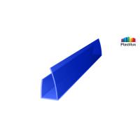 Поликарбонатный профиль ROYALPLAST UP торцовый синий 4мм 2100мм