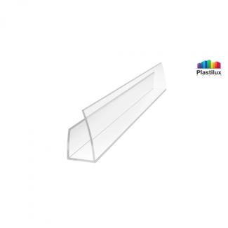 Профиль для поликарбоната ROYALPLAST UP торцевой прозрачный 6мм 2100мм