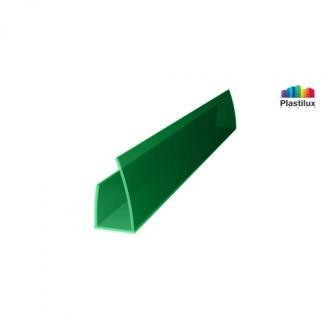 Профиль для поликарбоната ROYALPLAST UP торцевой зелёный 8мм 2100мм