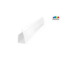 Профиль для поликарбоната ROYALPLAST UP торцевой белый-матовый 8мм 2100мм