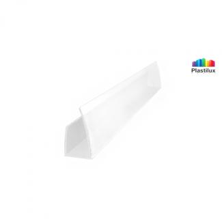 Профиль для поликарбоната ROYALPLAST UP торцевой белый-матовый 10мм 2100мм