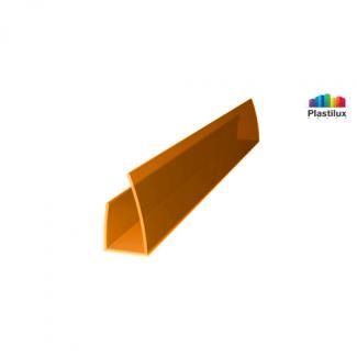 Поликарбонатный профиль ROYALPLAST UP торцовый оранжевый 6мм 2100мм