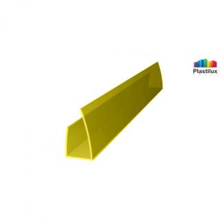 Профиль для поликарбоната ROYALPLAST UP торцевой жёлтый 4мм 2100мм