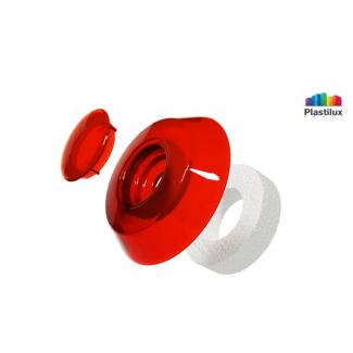 Термошайба для поликарбоната УП1000 красный D=40мм